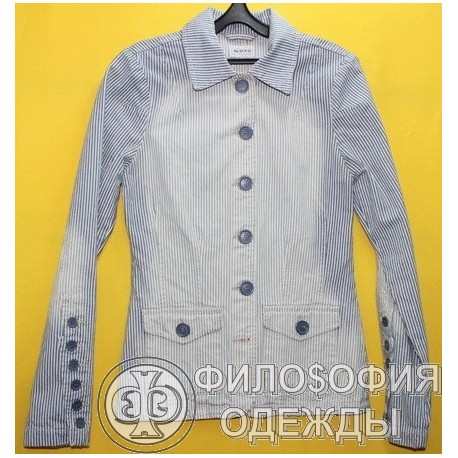 Женский джинсовый пиджак Moto, размер 42-44