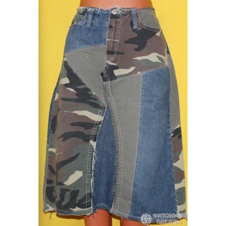 Юбка джинсовая Freeman Porter, размер 42-44