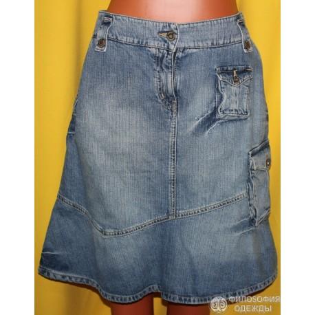 Юбка джинсовая H&M, размер 44-46