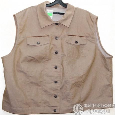 Женская жилетка с карманами, 58-60 размер