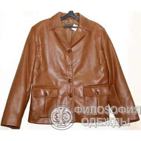 Женская куртка Moreland, искусственная кожа, размер 48-50