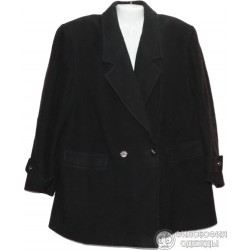 Женское черное полупальто, размер 58-60