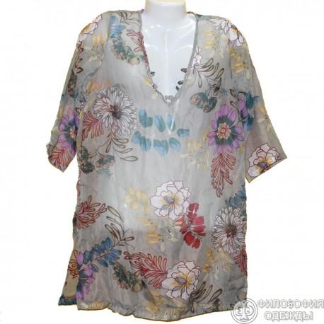 Женская блуза кофточка 56-58 размер, итальянский дизайн
