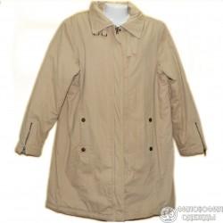 Хлопчато-бумажное утепленное пальто р.54-56