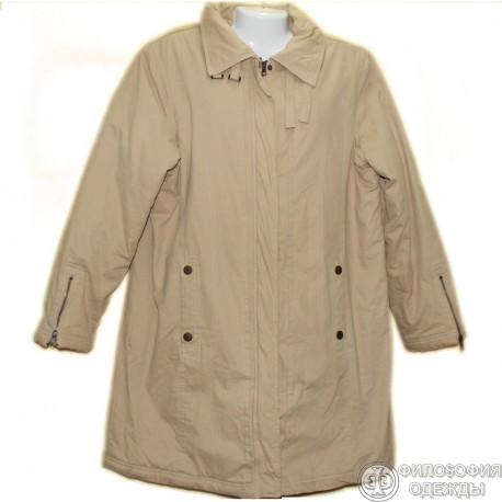 Хлопчато-бумажное утепленное пальто