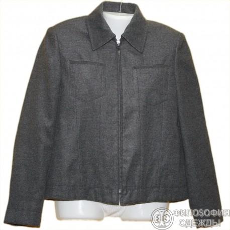 """Мягкая, легкая куртка-""""рубашка"""" р.48 с двумя карманами в верхней части"""