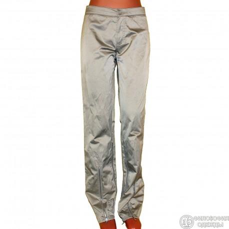 Женские красивые золотистые легкие брюки