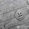 Интересная светлая кофта р.50-52 с воротником шалькой, поясом и карманами