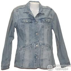Джинсовый светлый пиджак р.44 Biager