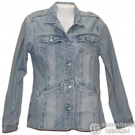 Джинсовый светлый пиджак р.44