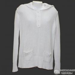 Удобный хлопковый свитерок с кармашками р.52-54