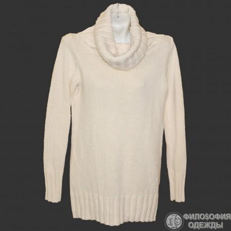 Удлиненный свитер, платье крупной вязки р.50-52. Тепло и красиво