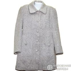 Теплое, красивое, светлое, демисезонное пальто р.50-52