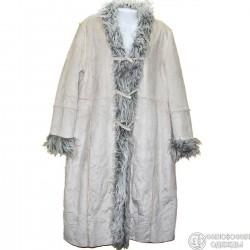 """Очень эффектное р.44-46 светлое пальто-""""дубленка"""""""