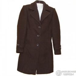 Пальто коричневое р.44 из рельефной ткани