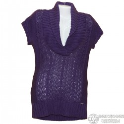 Красивая сиреневая туника-платье р.42-44 крупной вязки Street one