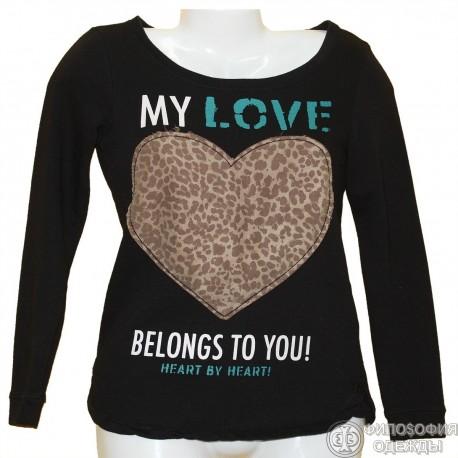 Плотная футболка-свитер р.38-40