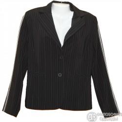 Красивый шелковистый пиджак р.50 с необычным украшением на рукавах