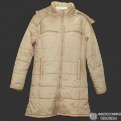 Теплое пальто на дождливую погоду р.48