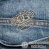 Очень модные стильные джинсовые бриджи