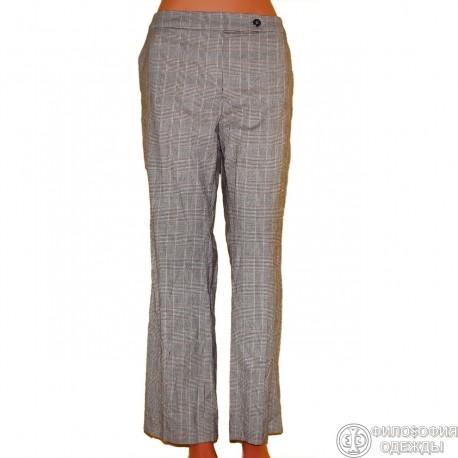 Светлые клетчатые брюки
