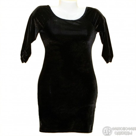 Красивое платье с золотым блеском р.38-40