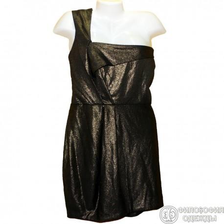 Платье с золотым блеском р.50-52