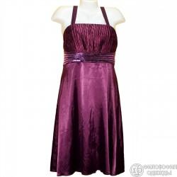 Интересное темносиреневое платье р. 40-42