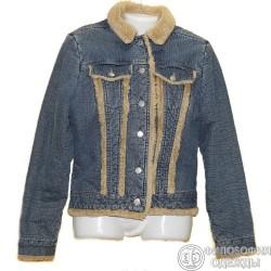 Утепленная джинсовая куртка р.44-46