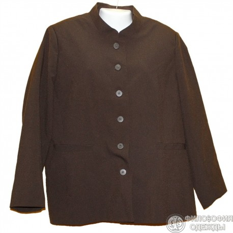 Пиджак с воротником стойкой р.58-60