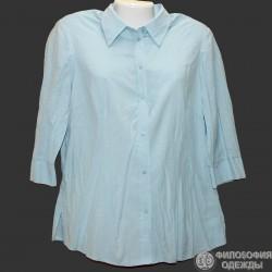 Поплиновая женская блузка р.50-52