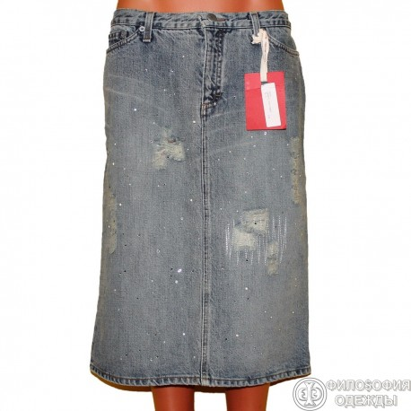 Классная новая дизайнерская джинсовая юбка