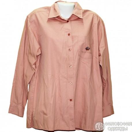 Хлопковая плотная блуза р.50-52