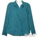 Очень красивая темнобирюзовая блузка р.50-52