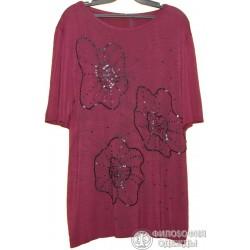Женская сиреневая блуза, кофточка, размер 52-54