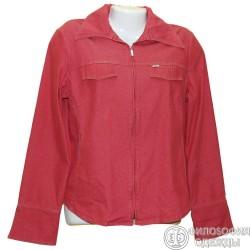 Легкая красная женская джинсовая курточка р.46-48