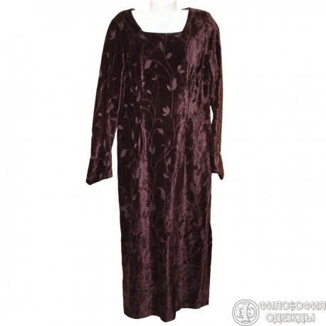 Платье бархатное р.48-50
