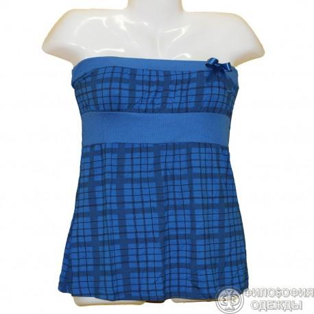 Очаровательное синее платье р.