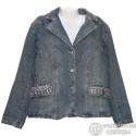 Оригинальный джинсовый женский пиджак размер 52-54