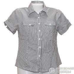 Симпатичная женская блузка в полоску р. 42-44