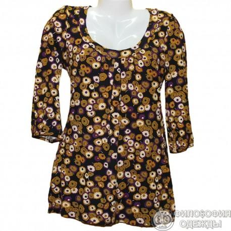 Цветное яркое платье, туника H&M, р.