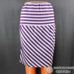 Полосатая юбка, тянущаяся, Torrid, 48-50 размер