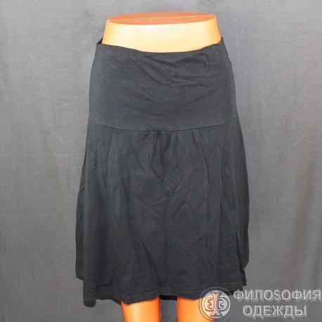 Хлопковая черная юбочка Punto, эластичная, 44-46 размер
