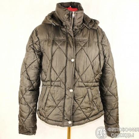 Практичная теплая куртка с капюшоном, размер 46-48