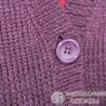 Фиолетовый удлиненный кардиган с красивой вязкой, р. 44-46