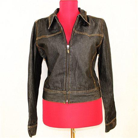 Чёрная джинсовая куртка MEXX 46-48