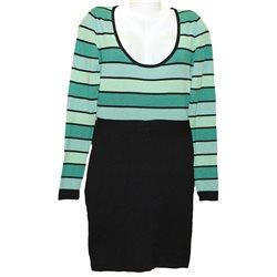 Интересное платье зеленый верх и черный низ, Melrose, р. 44-46