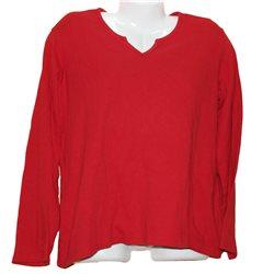 Красная кофточка лонгслив р. 52-54