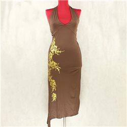 Стильное длинное коктейльное платье с рисунком Melrose р. 36-38