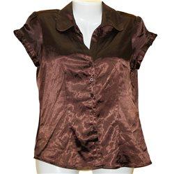 Легкая коричневая блузка с блеском Jake*s р.44-46